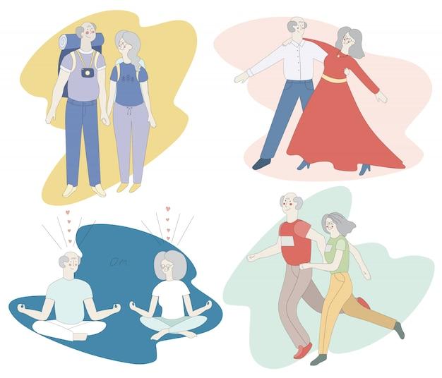 Casais idosos ativos