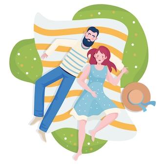 Casal a passar tempo juntos