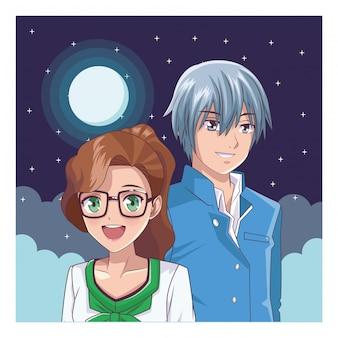 Casal anime mangá