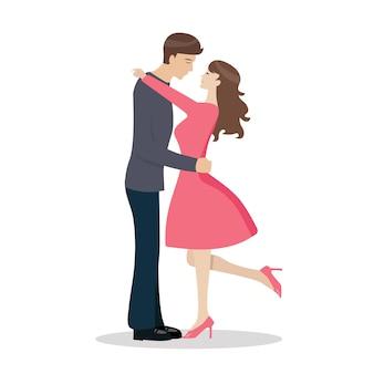 Casal apaixonado está se beijando