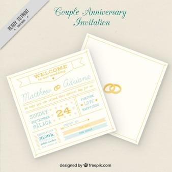 Casal cartão de aniversário