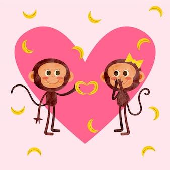 Casal de animais fofos para o dia dos namorados