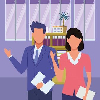 Casal de empreendedor executivo de negócios