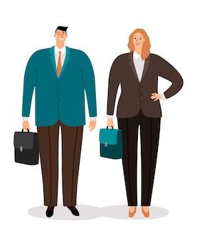 Casal de empresários em ternos