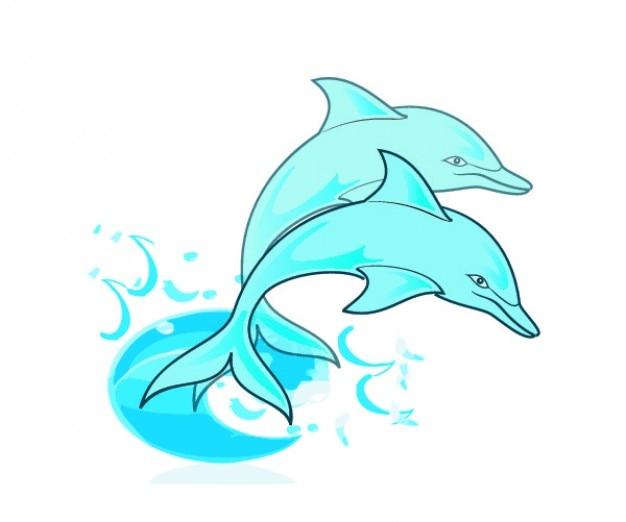 Casal de golfinhos azuis