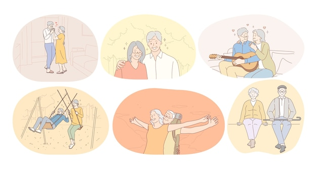 Casal de idosos vivendo com conceito de estilo de vida ativo e feliz