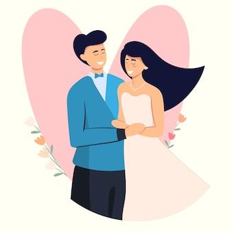Casal de namorados se abraçando