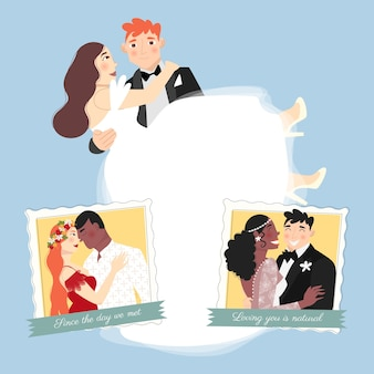 Casal de noivos amar você é natural