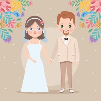 Casal de noivos casado