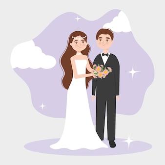 Casal de noivos elegantes