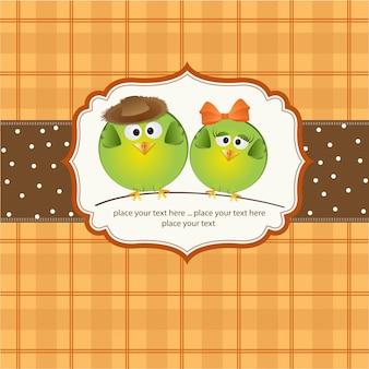 Casal de pássaros apaixonado