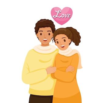 Casal de pele negra se abraçando, amante, dia dos namorados