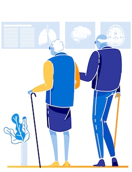 Casal de pensionistas - serviço médico e saúde