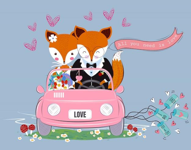 Casal de raposa