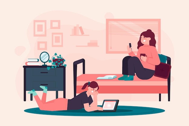 Casal fazendo várias atividades dentro de casa