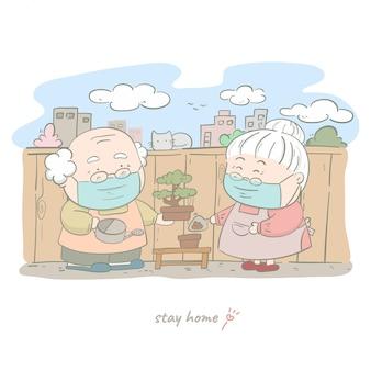 Casal feliz sênior, ajudando-se a plantar árvores
