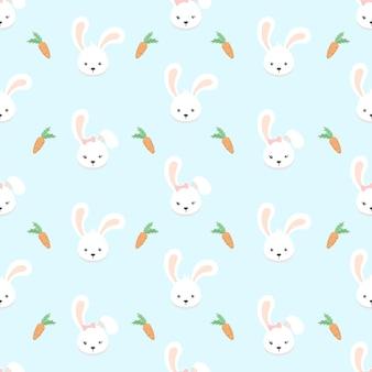 Casal fofo coelho padrão sem emenda