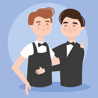 Casal gay elegante