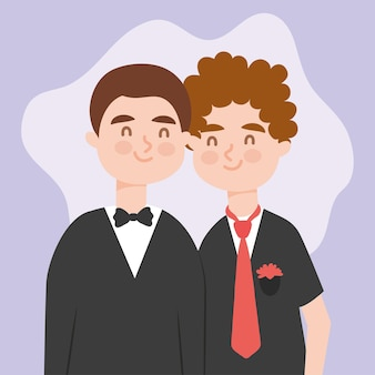Casal gay feliz