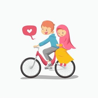 Casal muçulmano romântico