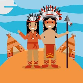 Casal nativo americano