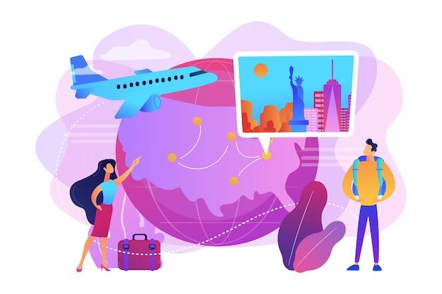 Casal saindo de férias ilustração de férias