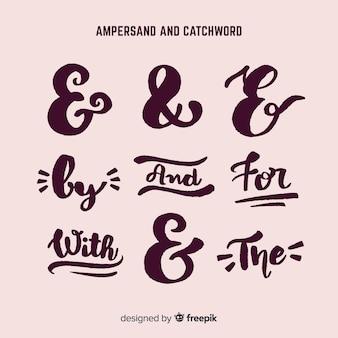 Casamento e comercial e slogans lettering