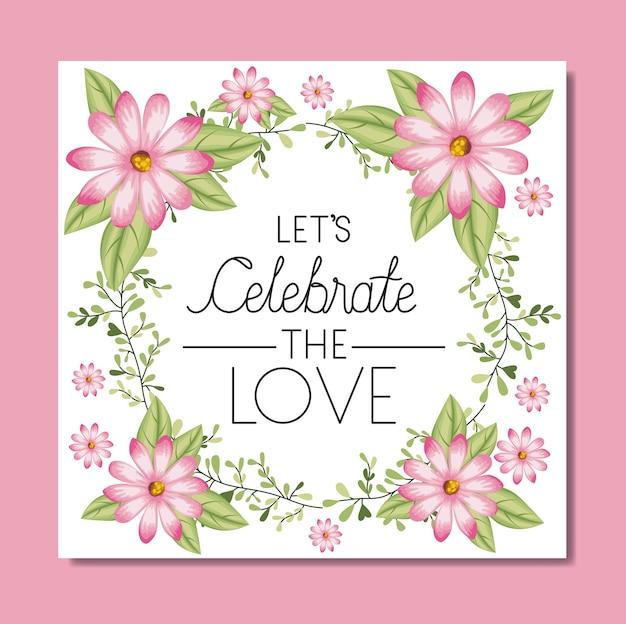 Casamento e convite casado com grinalda e fita