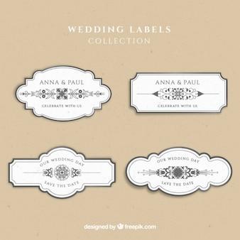 Casamento etiqueta a coleção