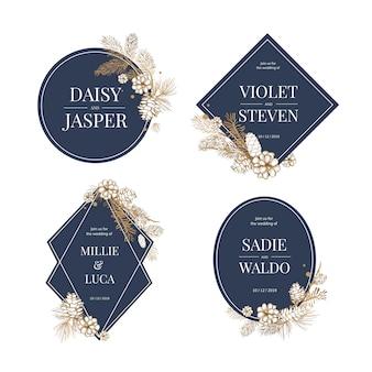 Casamento floral convidar coleção