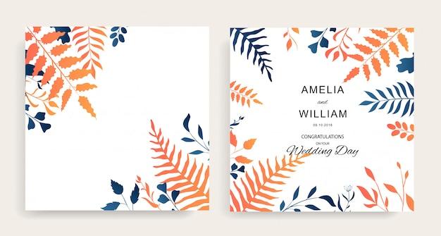 Casamento floral set