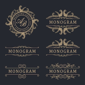 Casamento logótipo de luxo