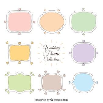 Casamento molda a coleção em cores pastel