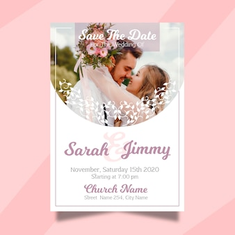 Casamento salvar o convite de data com foto