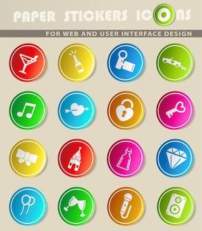 Casamento simplesmente ícones para web e interface do usuário