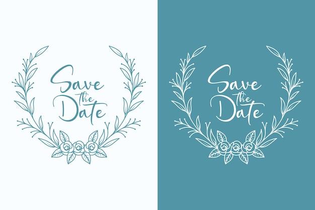 Casamentos florais mínimos e grinalda de casamento