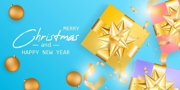 Casar com o cartão de natal e feliz ano novo.