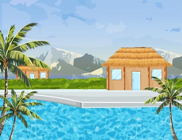 Casas à beira-mar