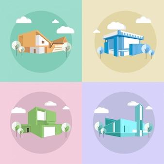 Casas da cidade moderna