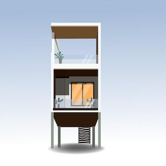 Casas de veraneio em contêineres novos