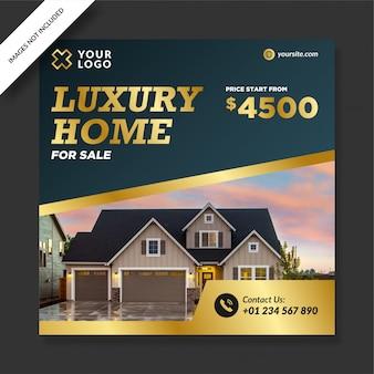 Casas elegantes de luxo azul à venda Vetor Premium