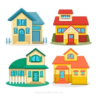 Casas em cores diferentes