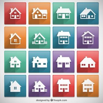 Casas ícones coleção