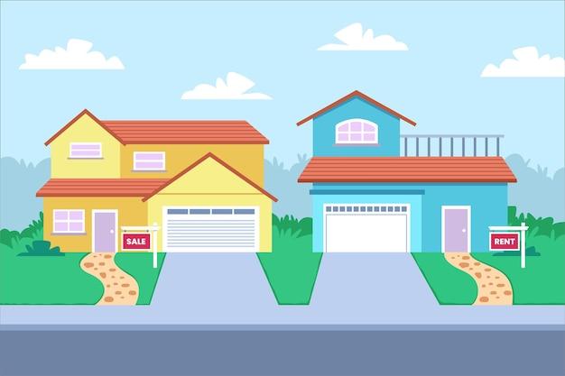 Casas para venda e aluguel