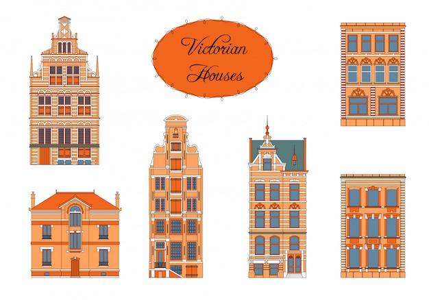 Casas vitorianas em cor