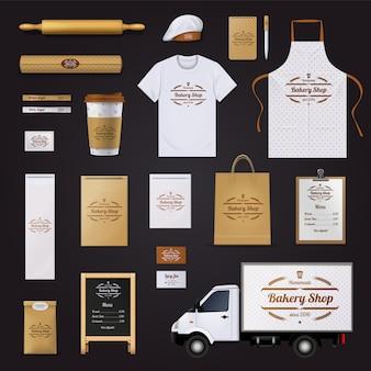 Caseiro loja de padaria de qualidade corporativa
