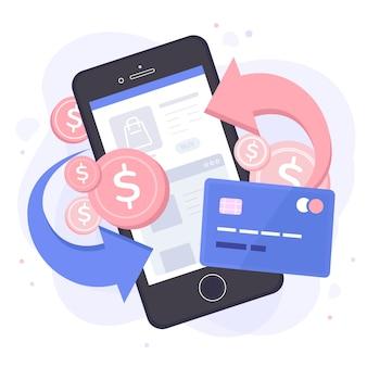 Cashback conceito de tema de oferta