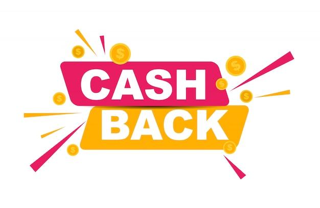 Cashback de dinheiro com moedas de dólar de ouro