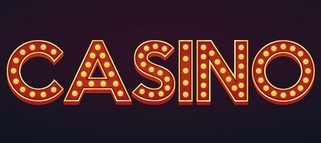 Casino alfabeto signo letreiro vintage