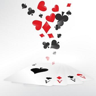Casino dos cartões de jogo ilustração